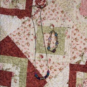 Vera Bradley Necklace and Bracelet Set
